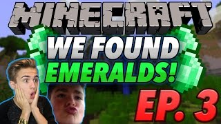 One of Jake Plays's most viewed videos: EMERALD HYPE! | (Minecraft Survival) #3