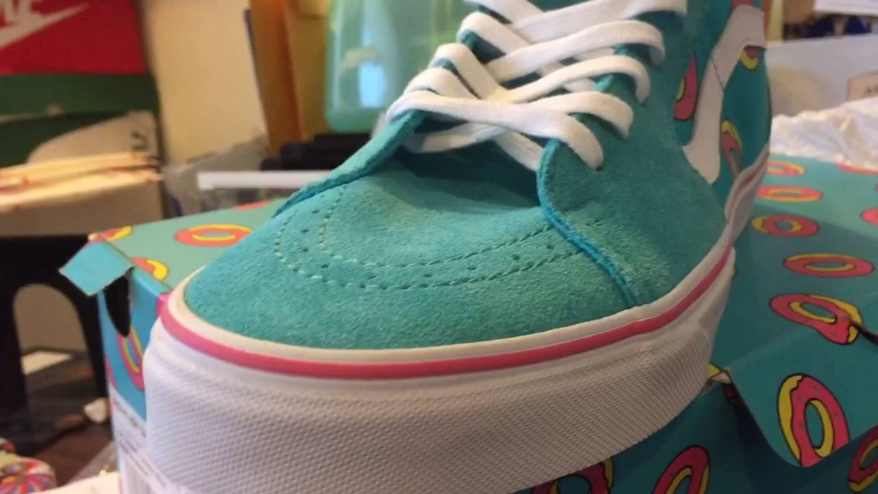 e0864fd667 Vans Odd Future Scuba Blue Donut Shoe Quick Look - YouTube