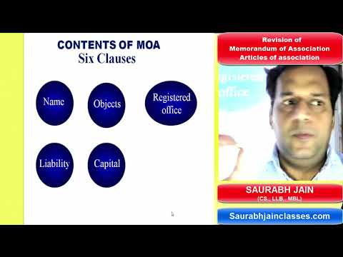 Revision of MOA & AOA under Companies Act, 2013