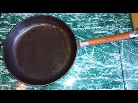 Поржавела чугунная сковорода что делать