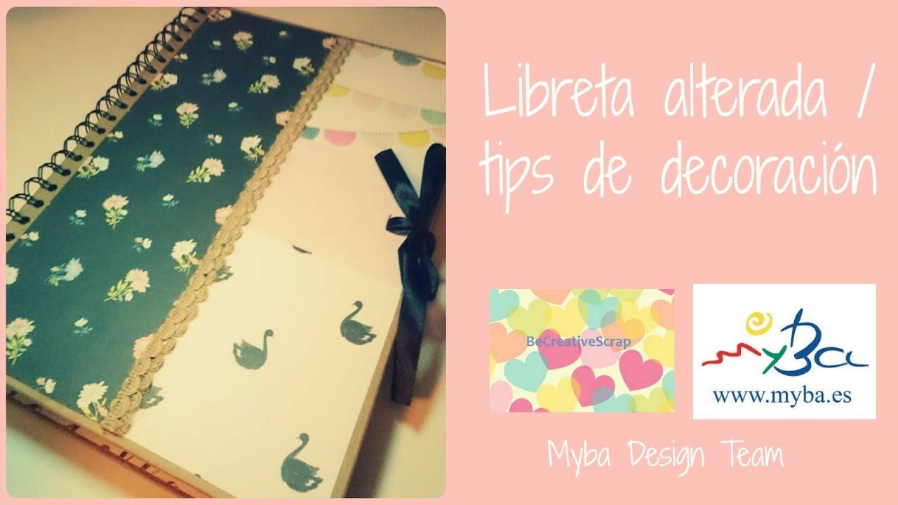Libreta alterada scrapbooking c mo decorar cuadernos con - Colgador de tela con bolsillos ...