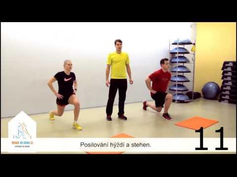 CVIKY NA ZADEK (2.ukázka z 3 Fitness video-tréninku) - hubnutí a zpevnění hýždí, boků a stehen