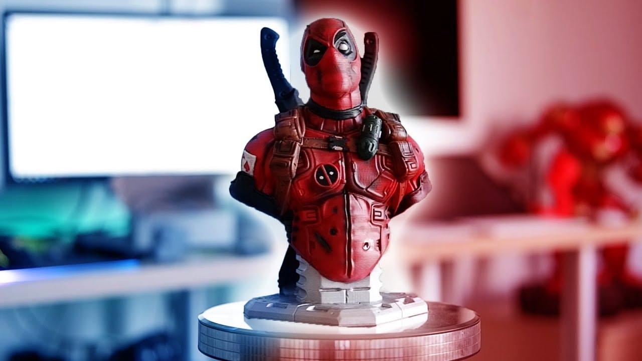 3d Yazici Ile Deadpool Bustu Yapmak Ve Boyamak Youtube