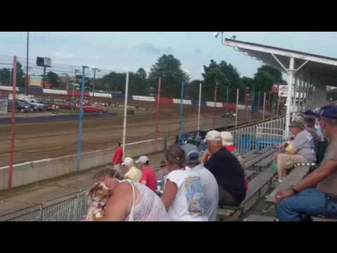 USAC Sprint Car Qualifying Part 2/3  Terre Haute Action Track