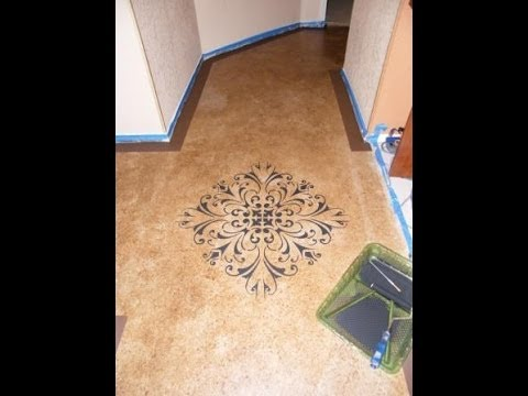 DIY: Paint With Concrete Stainu003d Budget Friendly  Beautiful Floors   YouTube