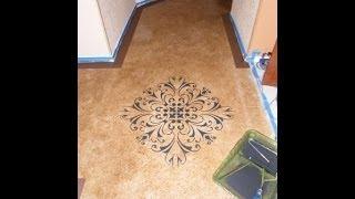 DIY Painting Concrete Floors ~ Faux Acid Stain Look
