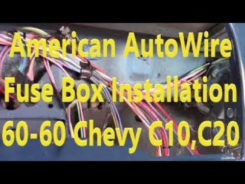 American Autowire 60-66 Chevy Truck Classic Update Wire Harness Dash Installation