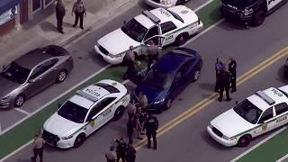 HIGH SPEED MIAMI POLICE CHASE - ENDS WITH A NAKED DRIVER!