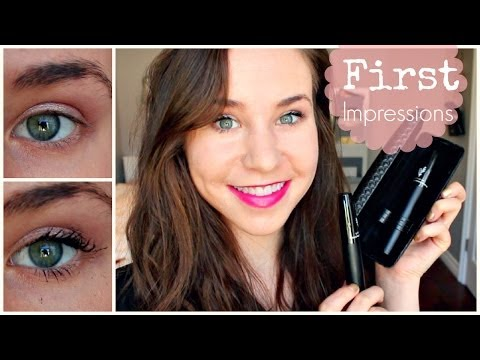 First Impressions: Younique 3D Fiber Lashes Mascara Review + Demo - 동영상
