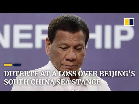 Philippine President Duterte admits being at a loss getting