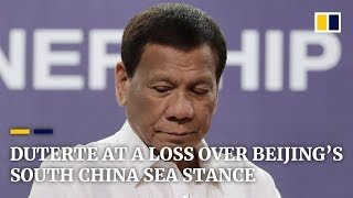 Philippine President Duterte admits being at a loss getting Beijing to honour South China Sea ruling