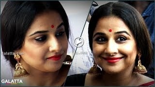 #JimmikiKammal Traditional Looking #VidyaBalan Sizzles Showroom Launch