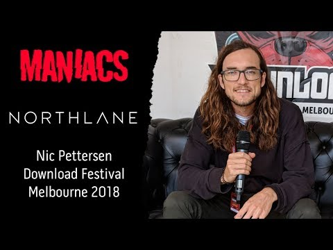 Northlane's Nic Pettersen at Download Festival Melbourne 2018.