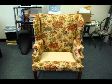 Danny S Upholstery Virginia Beach Wing Back Chair Upholstery Wmv
