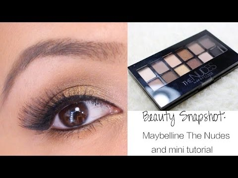 Beauty Snaphot: Maybelline The Nudes Eyeshadow Palette