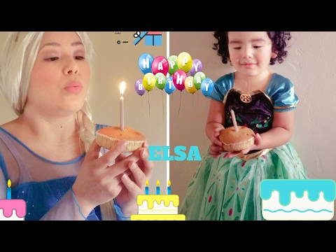 Ana y Elsa.. happy birthday elsa...