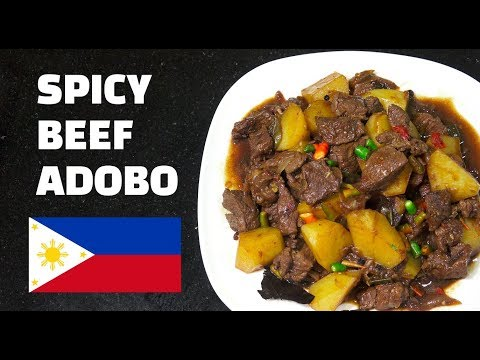 Spicy Beef Adobo – How to make Adobo – Tagalog – Pinoy Recipes – Filipino Food