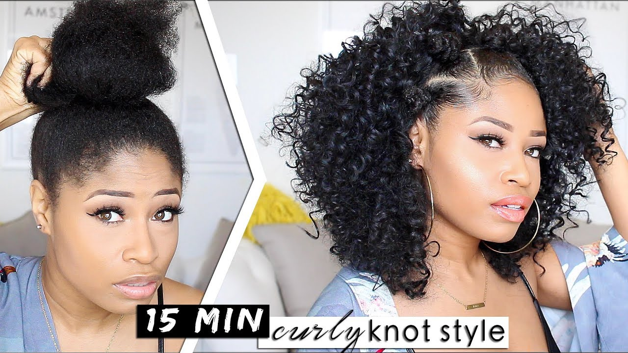 EASY 15-MIN KNOTTED CURLY STYLE! ?   hair how-to