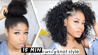 EASY 15-MIN KNOTTED CURLY STYLE! 🔥 | hair how-to