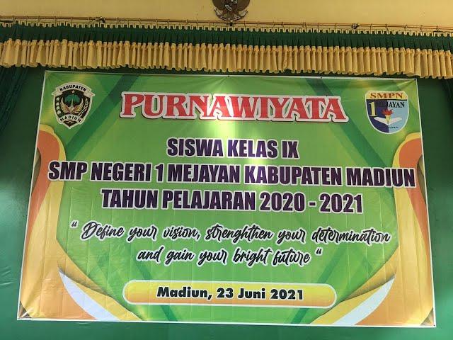 LIVE -  PURNAWIYATA SISWA KELAS 9 SMPN 1 MEJAYAN 2020/2021