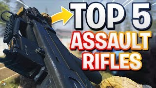 TOP 5 ASSAULT RIFLES IN CALL OF DUTY: MODERN WARFARE! BEST ASSAULT RIFLES in COD MW!