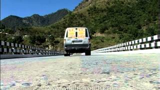 Driving along the valleys of West Kameng district