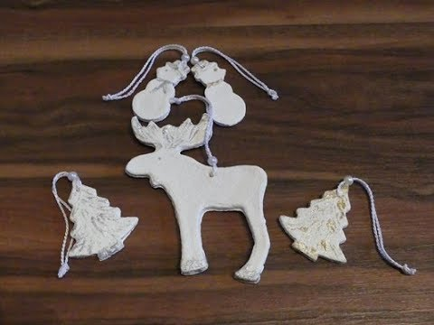 😍 Необычные поделки из солёного теста: делаем украшения на Новый Год вместе с детьми
