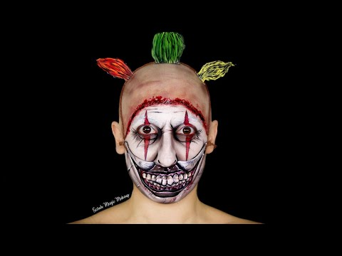 Twisty The Clown Makeup Tutorial (American Horror Story) - Day 22 Of 31 Days Of Halloween