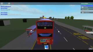 Roblox North London bus Simulator Gemini 2 DAF DB300 Arriva London Route 121 à Turnpike Lane