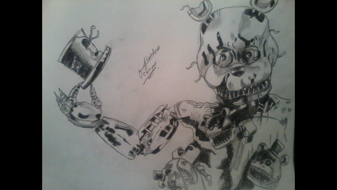 Dibujando Al Nuevo Freddy Nightmare Drawing Nightmare