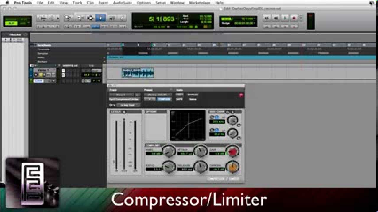 Using the Compressor/Limiter in PRO TOOLS |