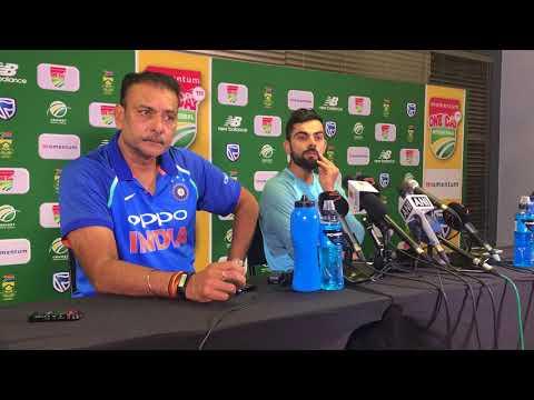 Virat Kohli and Ravi Shastri addresses the media