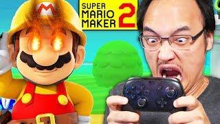 JE BRISE MA MANETTE À CAUSE DE CE NIVEAU RAGEANT !?   Super Mario Maker 2 (Mode Histoire #15)