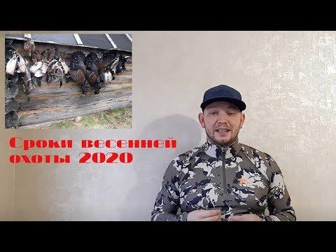 Вопрос: Когда откроется сезон охоты на уток в 2020году?