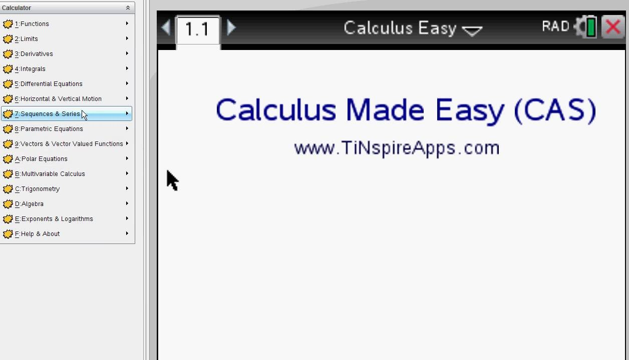 ▷Calculus Made Easy - Step by Step ✅ - with the TI-Nspire