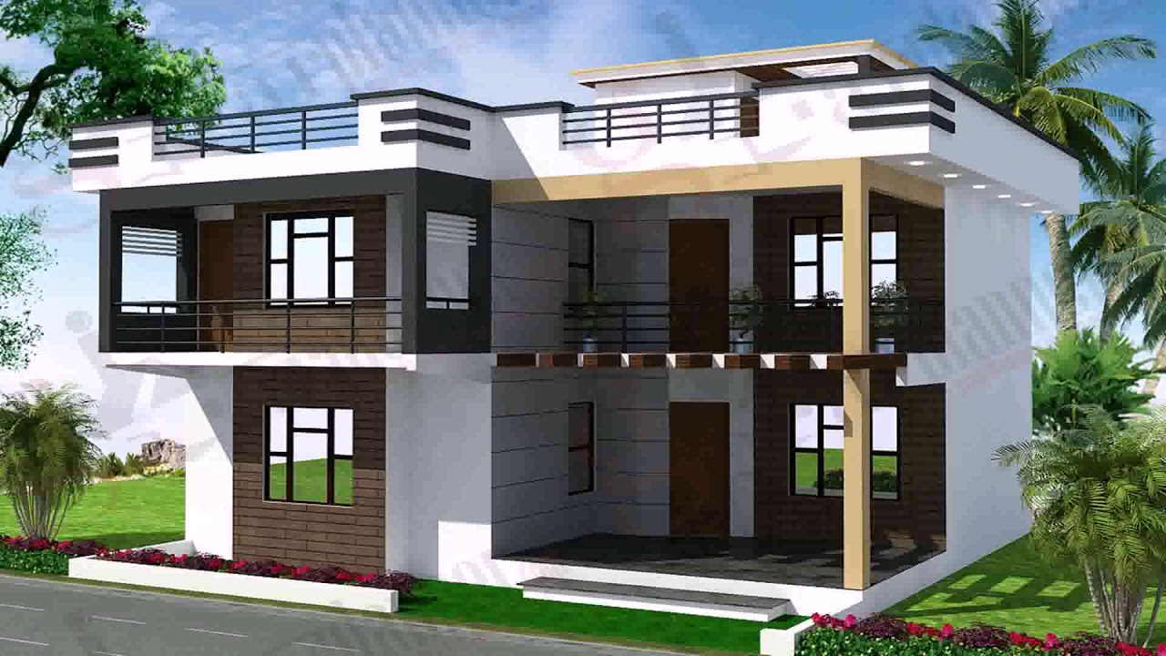 Simple Exterior Design Of House In India - YouTube
