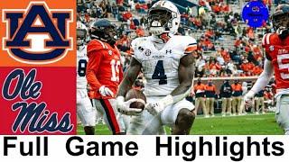 Auburn Vs Ole Miss Highlights | College Football Week 8 | 2020 College Football Highlights