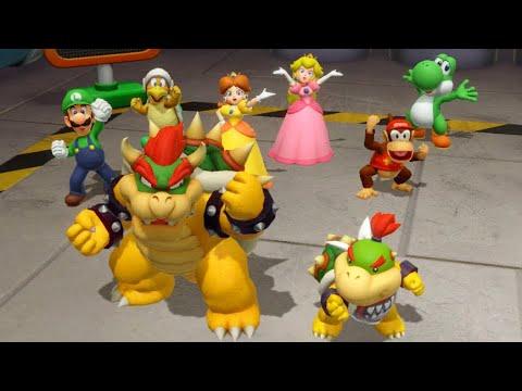 Super Mario Party Minigames -Bowser vs Bowser Jr. vs Goomba vs Dry Bones |
