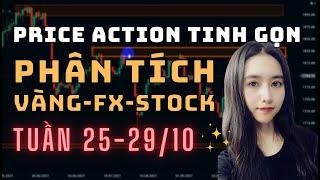 ✅ Phân Tích VÀNG-FOREX-STOCK Tuần 25-29/10 Theo Phương Pháp Price Action Tinh Gọn | TraderViet