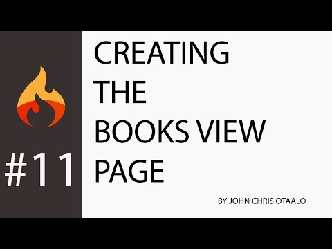 Codeigniter 3 With HMVC #11 - Building An Online Bookstore: Creating The Books View Page:Backend