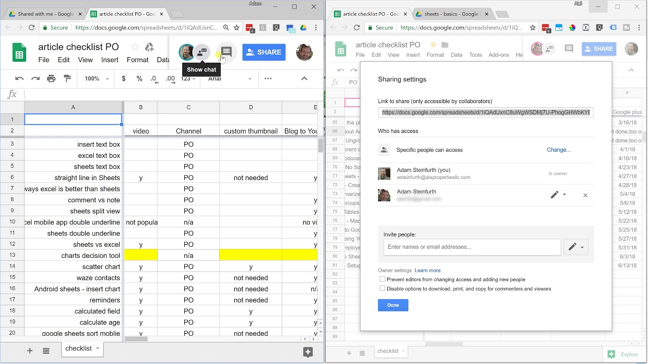 Google Sheets Share And Protect Your Spreadsheet Youtube