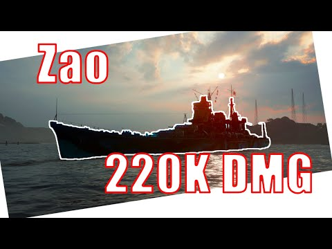 World of Warships Zao 220K DMG
