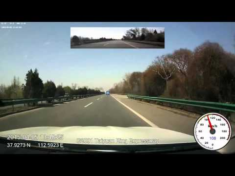 2015-04-05 drive-lapse from Pingyao to Beijing, 6x speed, 1080p, 60fps