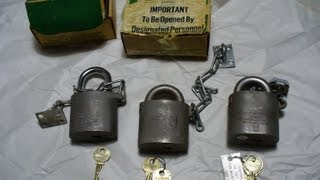 Differences between Sargent Greenleaf 826A,C,D padlocks