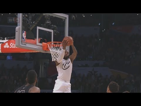 LeBron James Dunks Reverse Alley Oop From Russell Westbrook! 2018 NBA All Star Game!