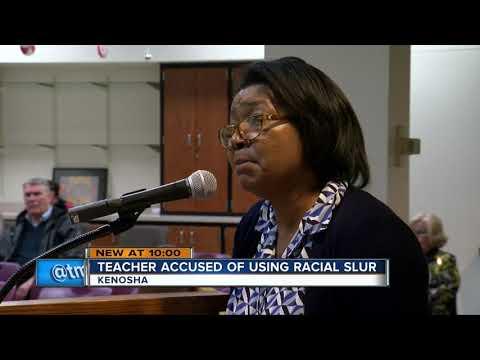 Kenosha teacher caught saying the 'N-word' on camera during class