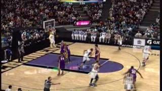 NBA 2K10 Gameplay - Lakers at Kings