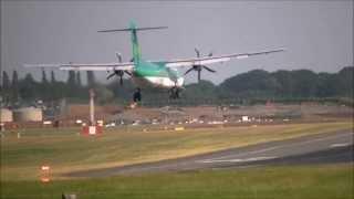 Tailstrike + Go Around Aer Lingus Regional ATR72-500 @ Birmingham Airport | 01/08/13