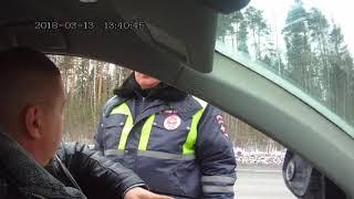 Попытка развода инспектором ДПС на Владимирской окружной,март 2018