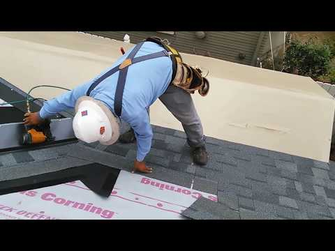 how-to-video-:-installing-new-roofing-shingles-on-a-steep-roof-,-new-plywood,-good-video!!